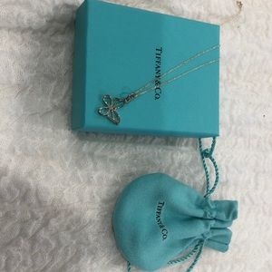 Tiffany & Co Sterling Silver Butterfly Necklace